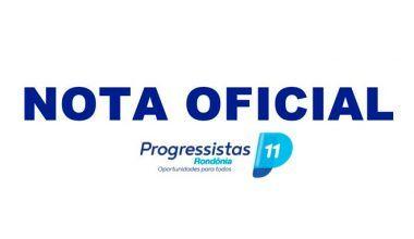 Em nota, Progressistas Rondônia desmentem site de notícia  e acionam o jurídico para medidas cabíveis