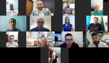 """Videoconferência: """"Vaquinha virtual"""" e convenções partidárias foram temas da reunião com presidentes dos Progressistas nas Regiões do Café e 429"""