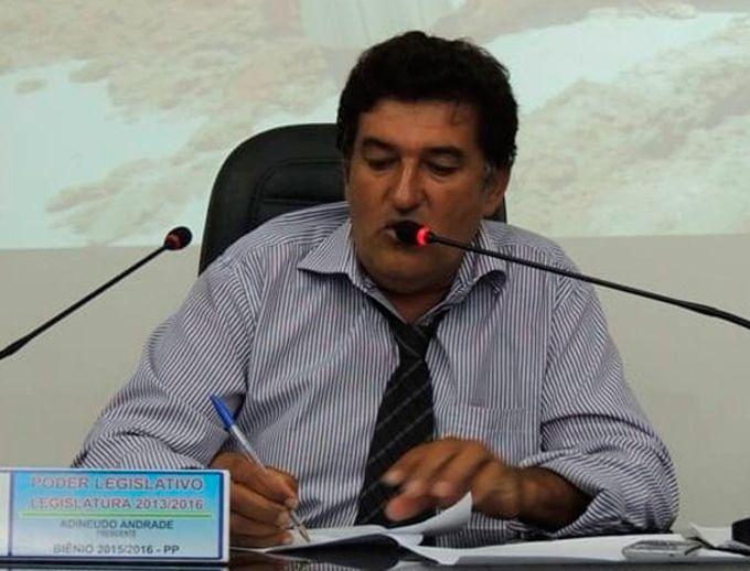 Vereador Adineudo - Foto: Arquivo pessoal / Rede Social
